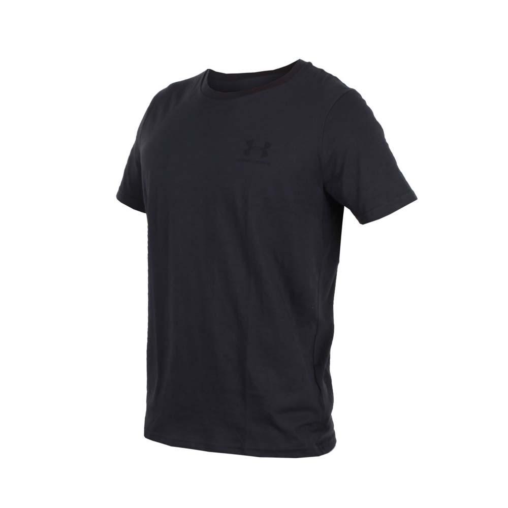 UNDER ARMOUR 男排汗快干短袖T恤-慢跑 路跑 短T 黑@1326799-001@