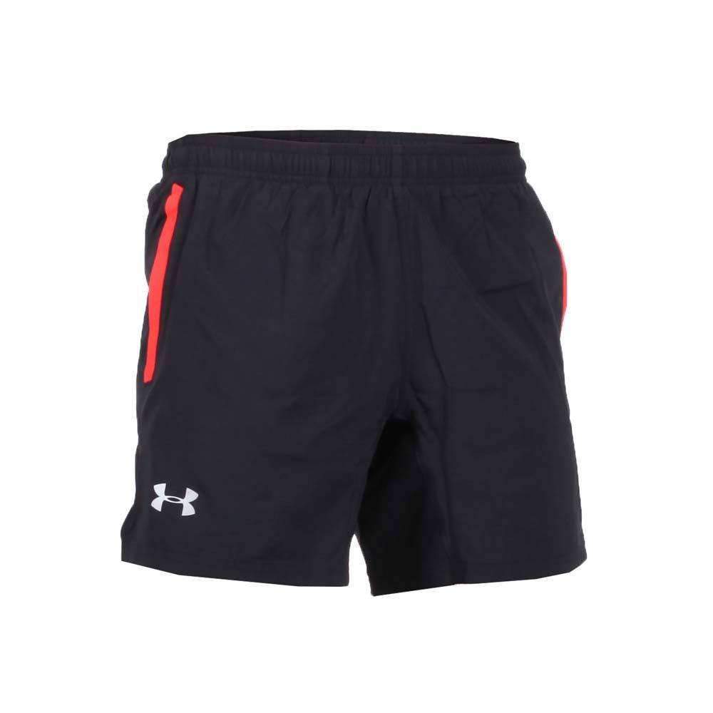 UNDER ARMOUR SPEED STRIDE 男运动短裤-慢跑 路跑 黑红银@1305198-003@