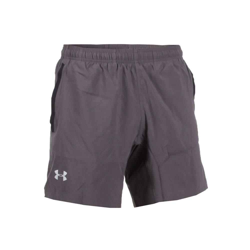 UNDER ARMOUR SPEED STRIDE 男运动短裤-慢跑 路跑 深灰银@1305198-019@