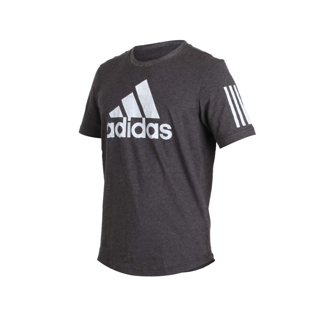 ADIDAS 男短袖T恤-短T 慢跑 路跑 爱迪达 深灰浅灰@DM4061@
