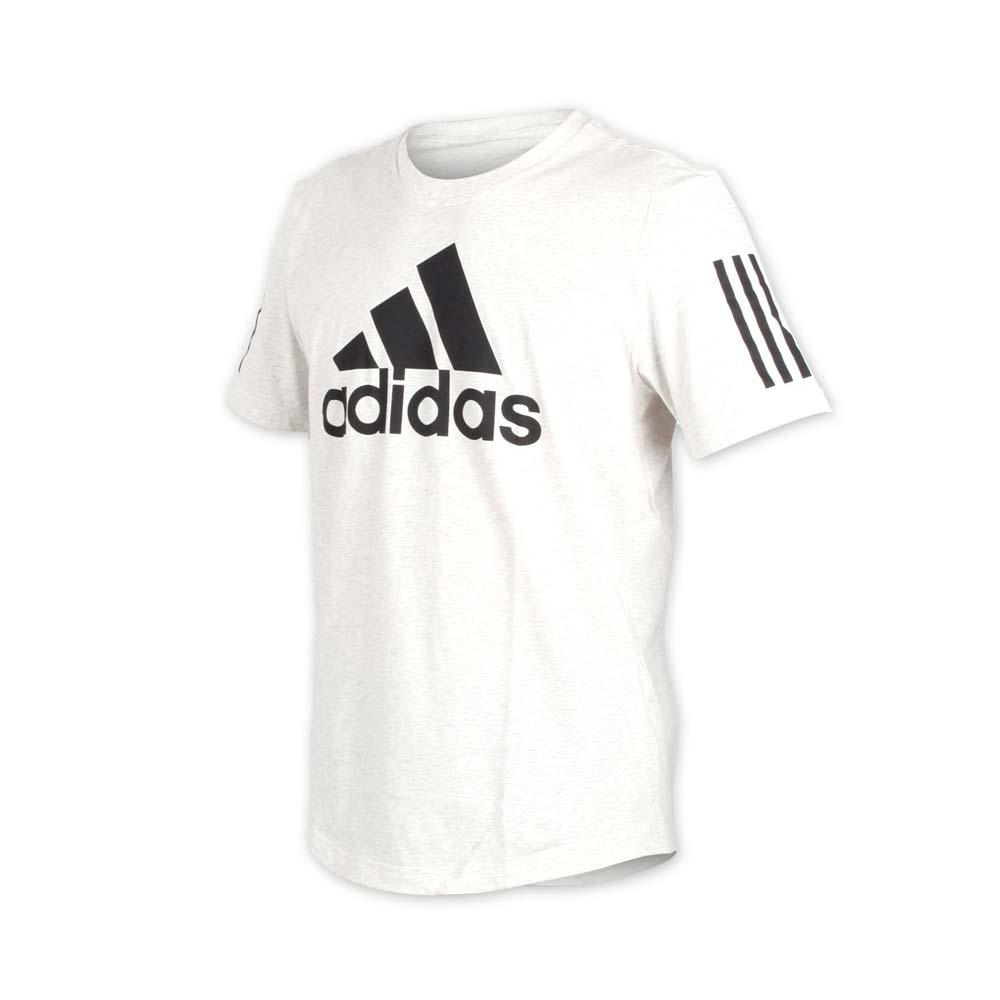 ADIDAS 男短袖T恤-短T 慢跑 路跑 爱迪达 米白黑@DM2803@