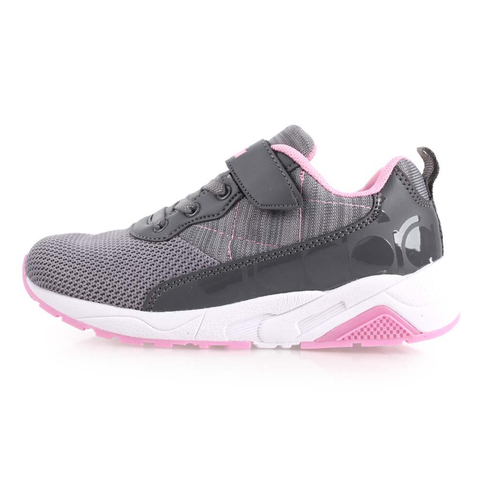 DIADORA 男女中童潮流慢跑鞋-魔鬼毡 路跑 童鞋 灰粉@DA8AKC6332@