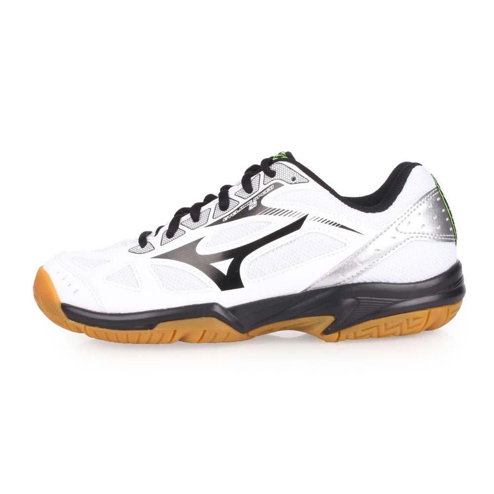 MIZUNO CYCLONE SPEED 2 女排球鞋-排球 美津浓 白黑银@V1GC198009@
