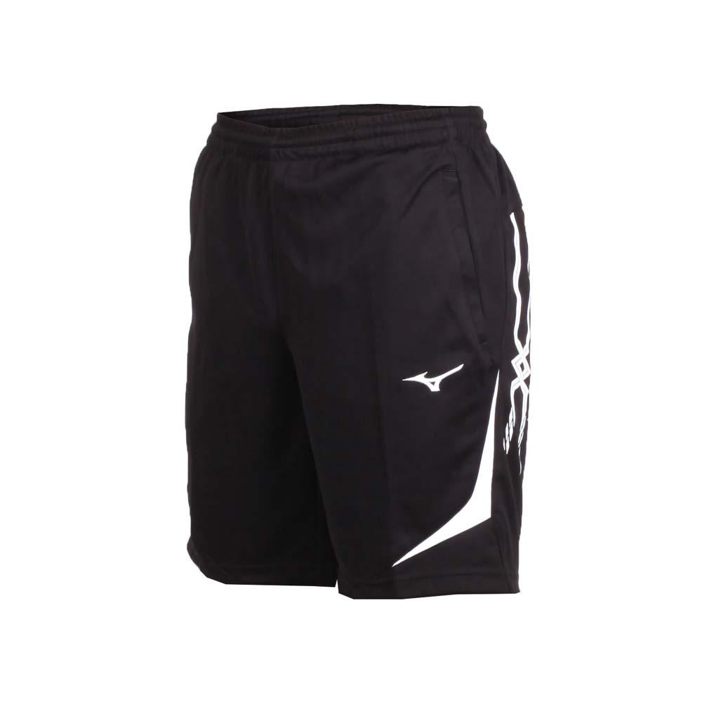 MIZUNO 男针织短裤-五分裤 慢跑 路跑 美津浓 黑白@32TB850390@