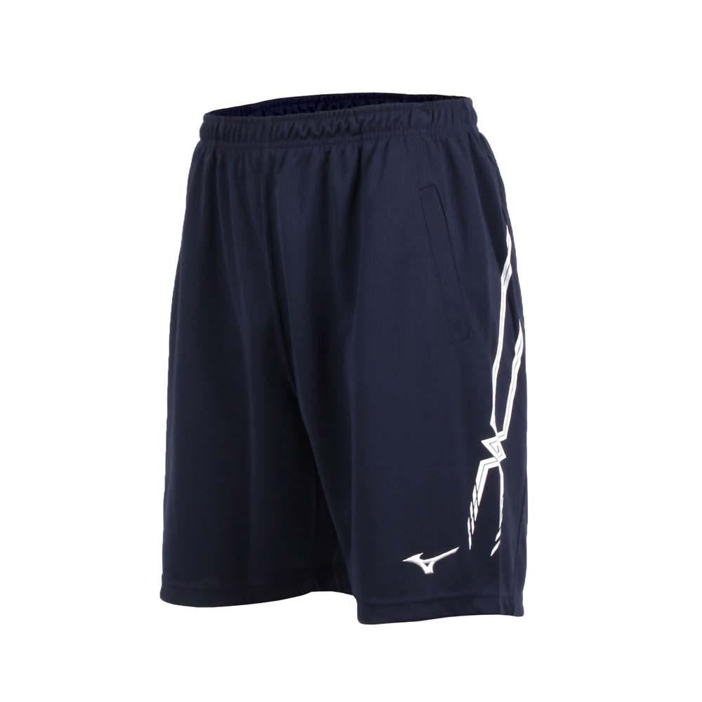 MIZUNO 男排球短裤-运动短裤 五分裤 慢跑 路跑 美津浓 丈青白@V2TB7A0614@