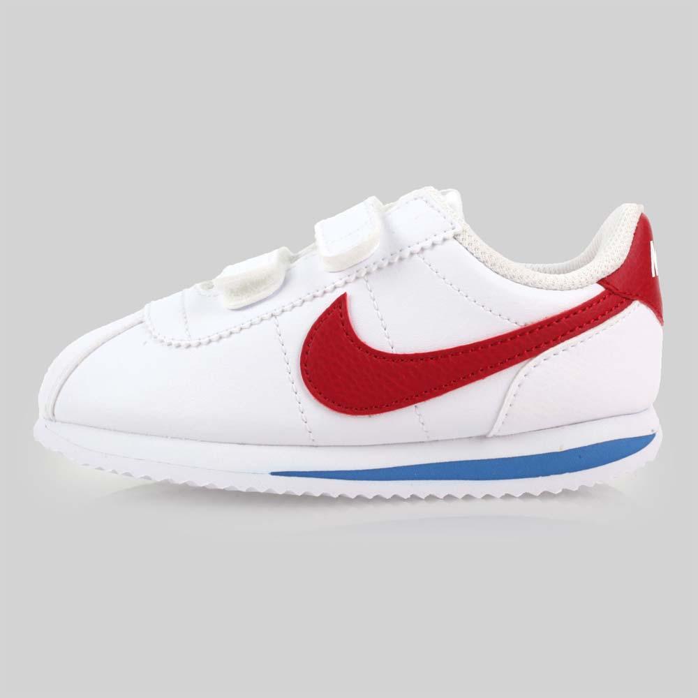 NIKE CORTEZ BASIC SL-TDV 男女童复古休闲鞋-童鞋 白红蓝@904769103@