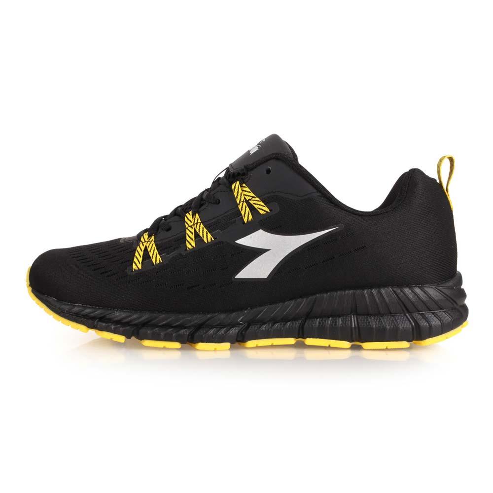 DIADORA 男慢跑鞋-宽楦 训练 路跑 黑黄银@DA8AMR6620@