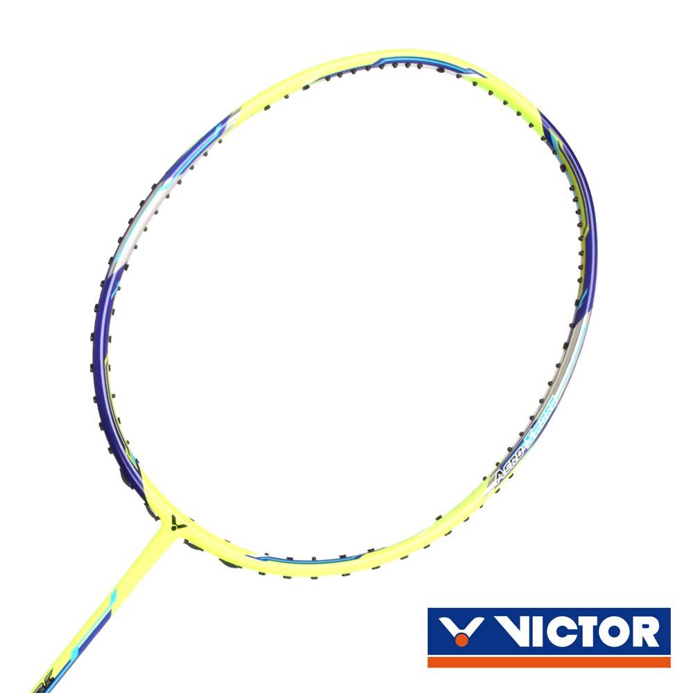 VICTOR 極速球拍-4U-訓練 羽球拍 羽毛球 空拍 勝利 螢光黃丈青@JS-08N-4U@