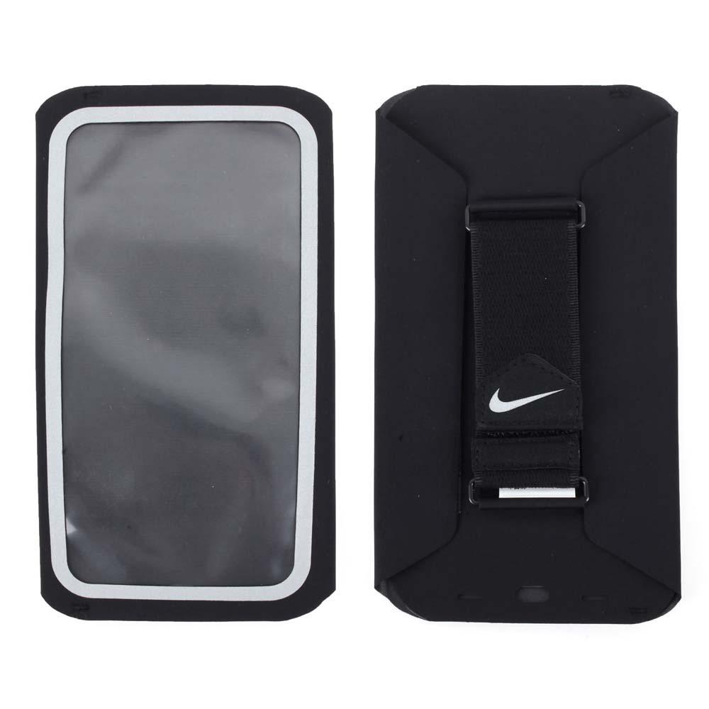 NIKE 手持式慢跑包~手機包 臂包 可收納6.8吋手機 慢跑 路跑 黑銀~NRN77082OS~