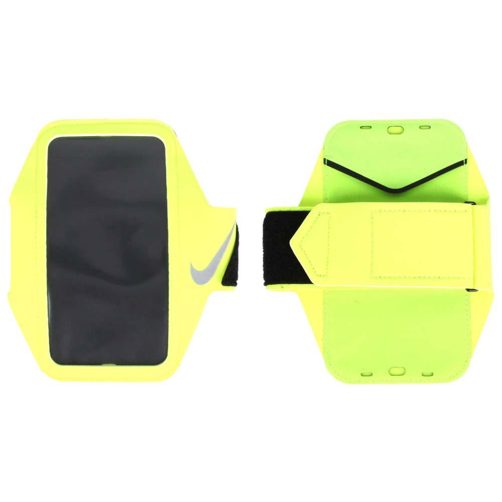 NIKE LEAN PLUS 萬用臂包~5.5吋手機 手機包 慢跑 路跑 螢光黃銀~NRN76719OS~