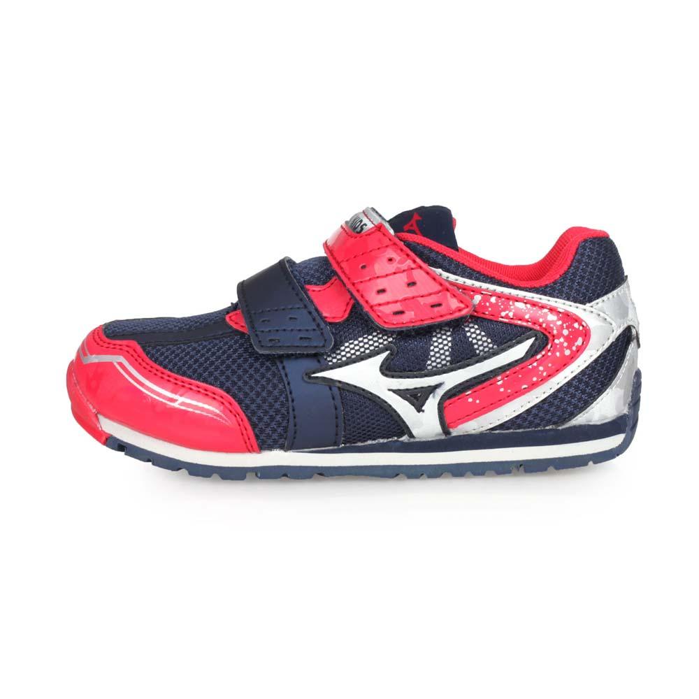 MIZUNO ASOBI KIDS 男女中童慢跑運動鞋-路跑 美津濃 丈青紅銀@K1GD193762@