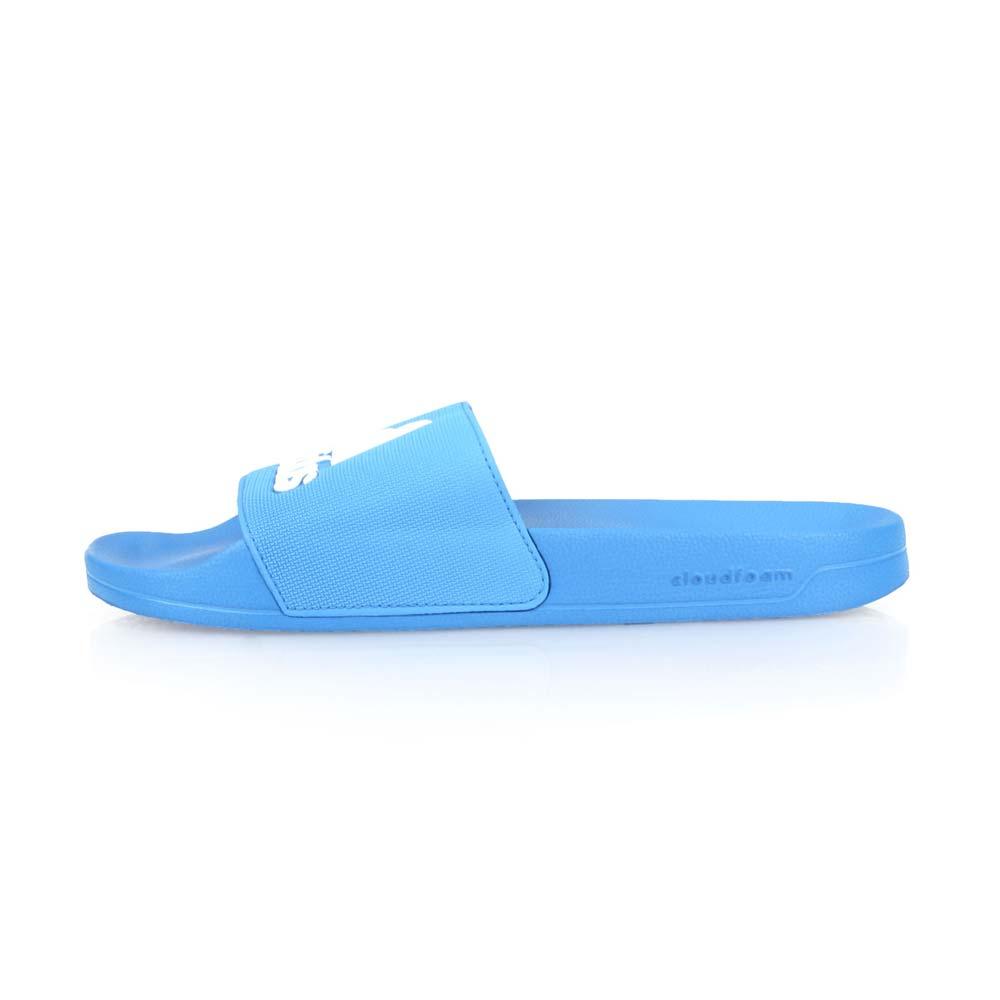 ADIDAS 男運動拖鞋-游泳 海邊 海灘 戲水 拖鞋 愛迪達 藍白@F34769@
