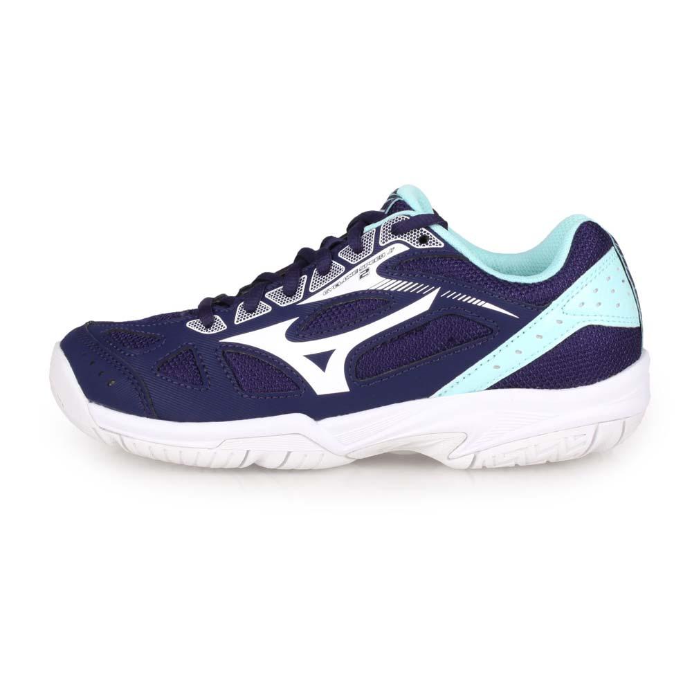 MIZUNO CYCLONE SPEED 2 JR. 男女兒童排球鞋-美津濃 丈青水藍白@V1GD191015@