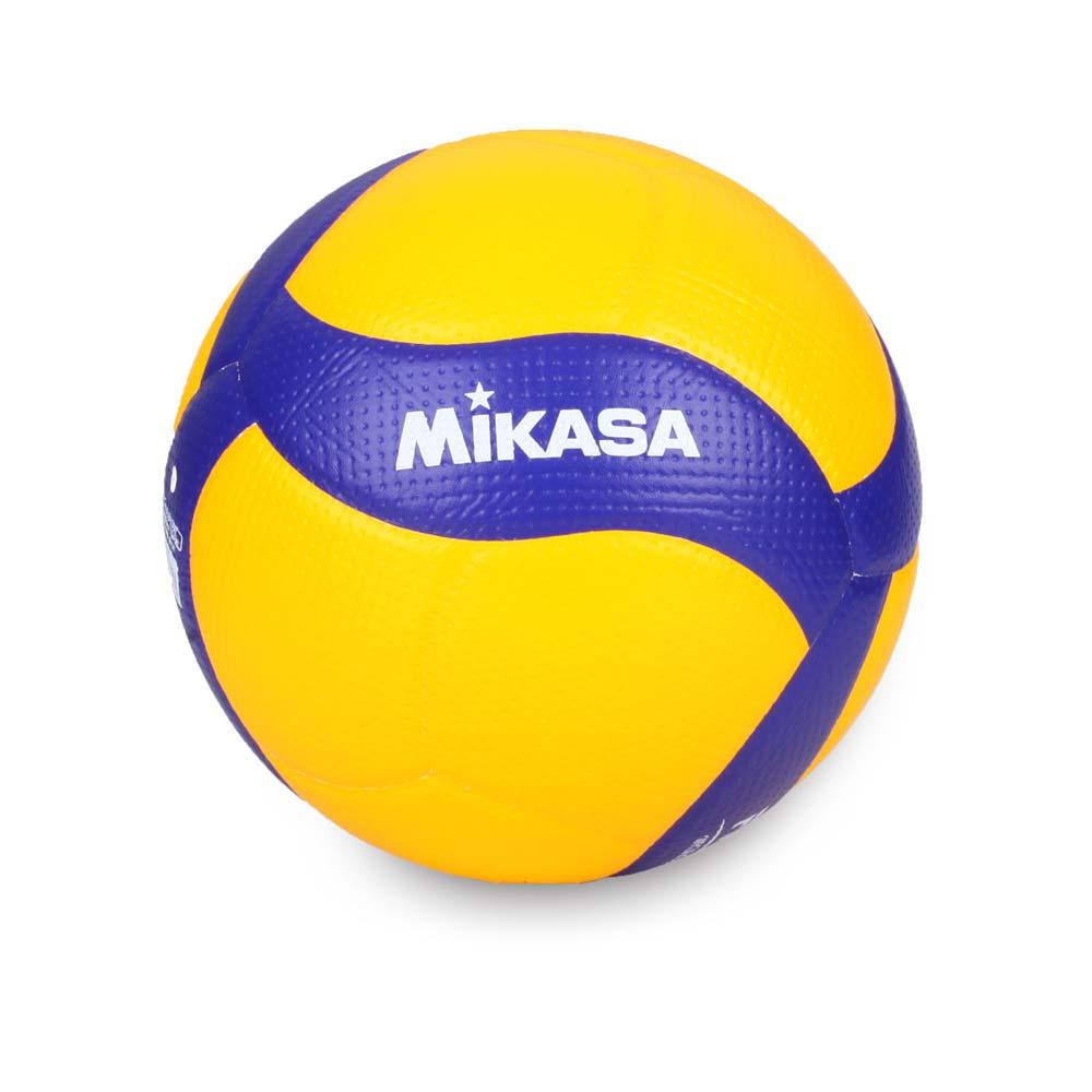 MIKASA 超纖皮製比賽級排球 #5-5號球 FIVB指定球 黃藍@V200W@