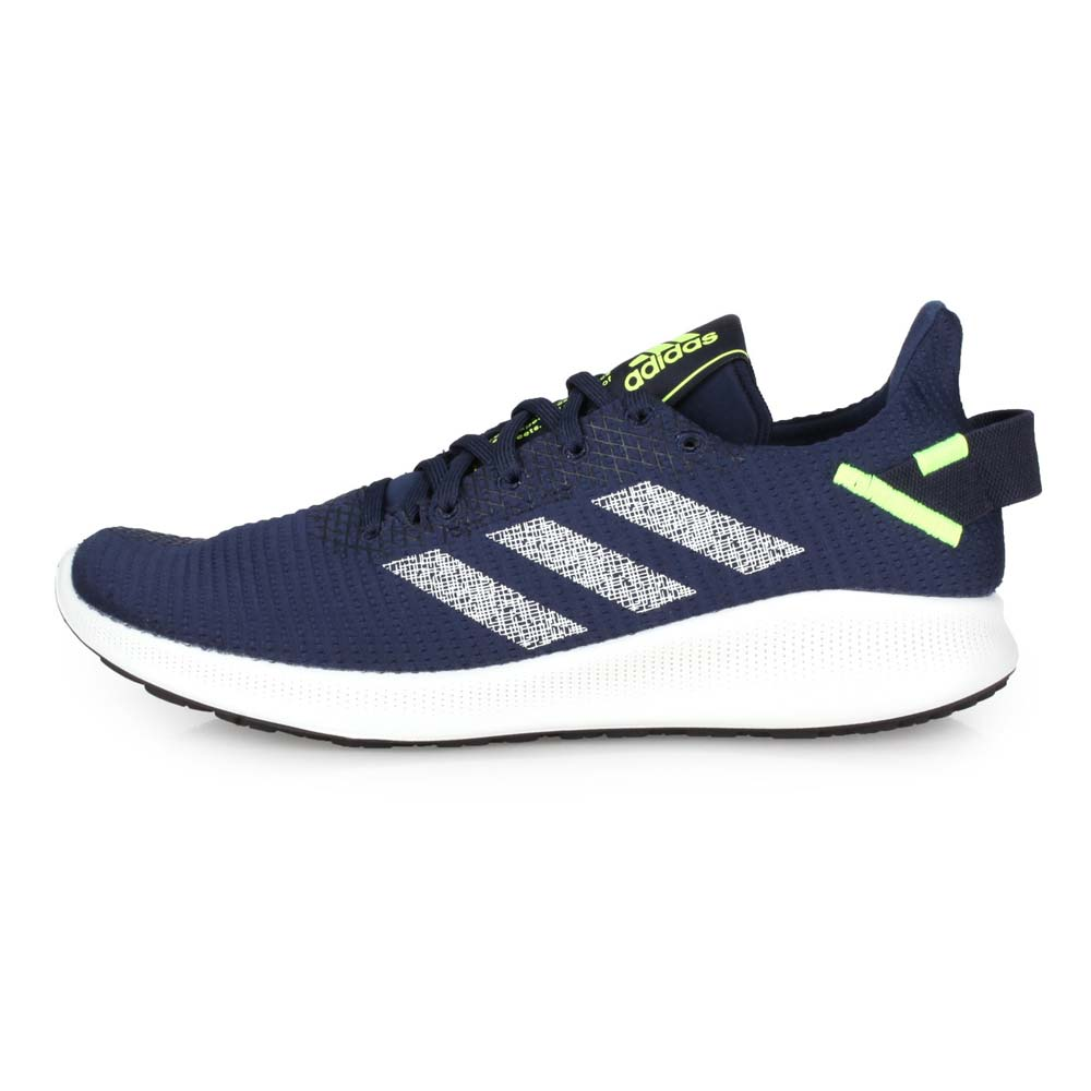 ADIDAS SENSEBOUNCE + STREET M男慢跑鞋-路跑 愛迪達 深藍螢光綠@G27275@