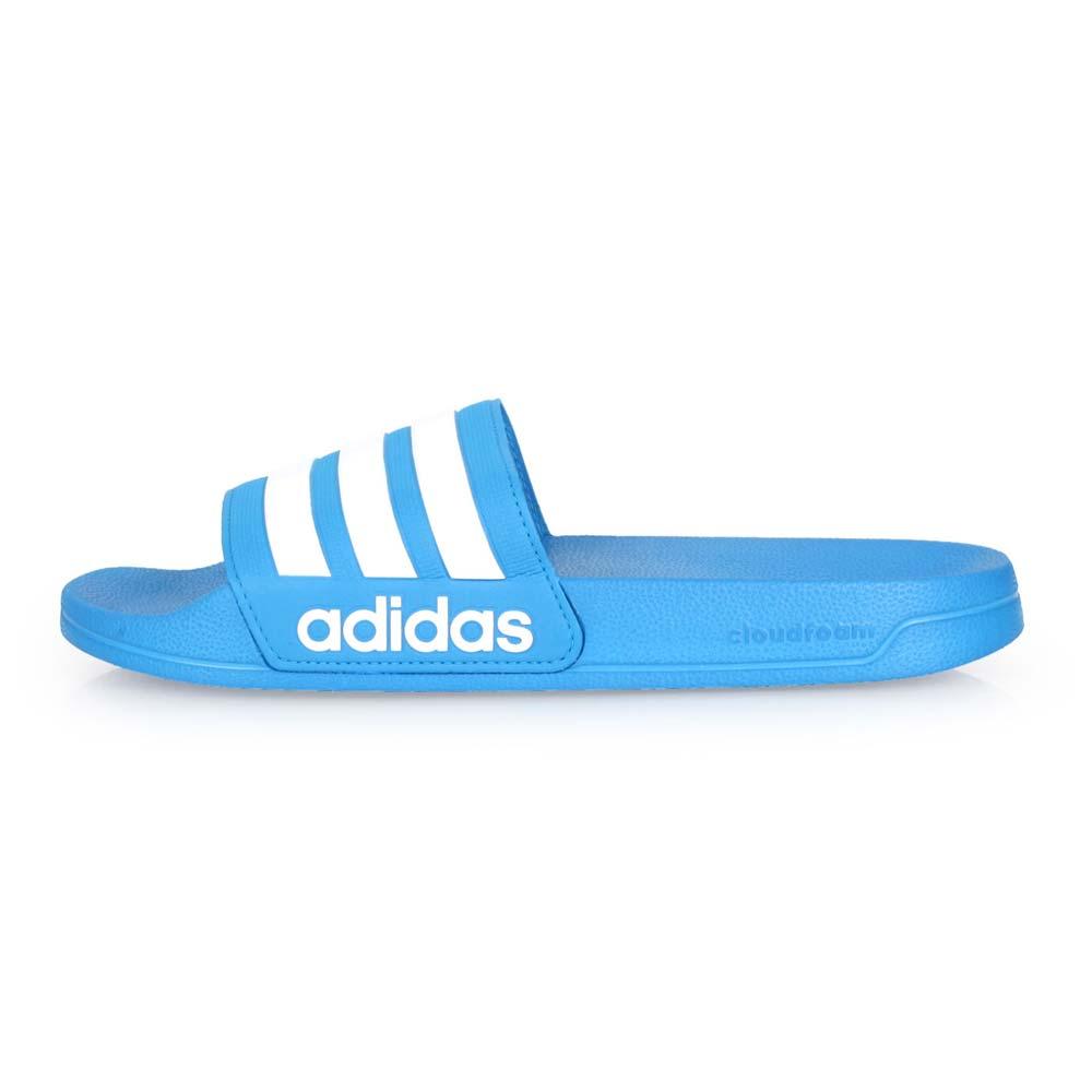 ADIDAS 男運動拖鞋-游泳 海邊 海灘 戲水 拖鞋 愛迪達 藍白@B42211@