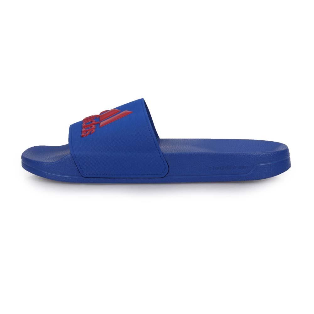 ADIDAS 男運動拖鞋-海邊 沙灘 戲水 游泳 愛迪達 藍紅@EE7041@