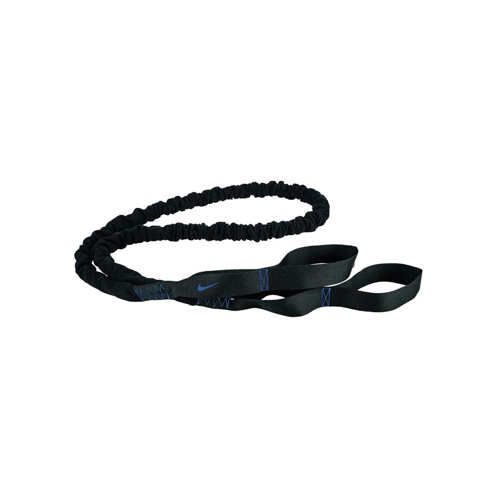 NIKE 抗阻彈力繩 40LBS-瑜珈繩 健身阻力帶 拉力帶 訓練帶 黑藍@N0000011033OS@