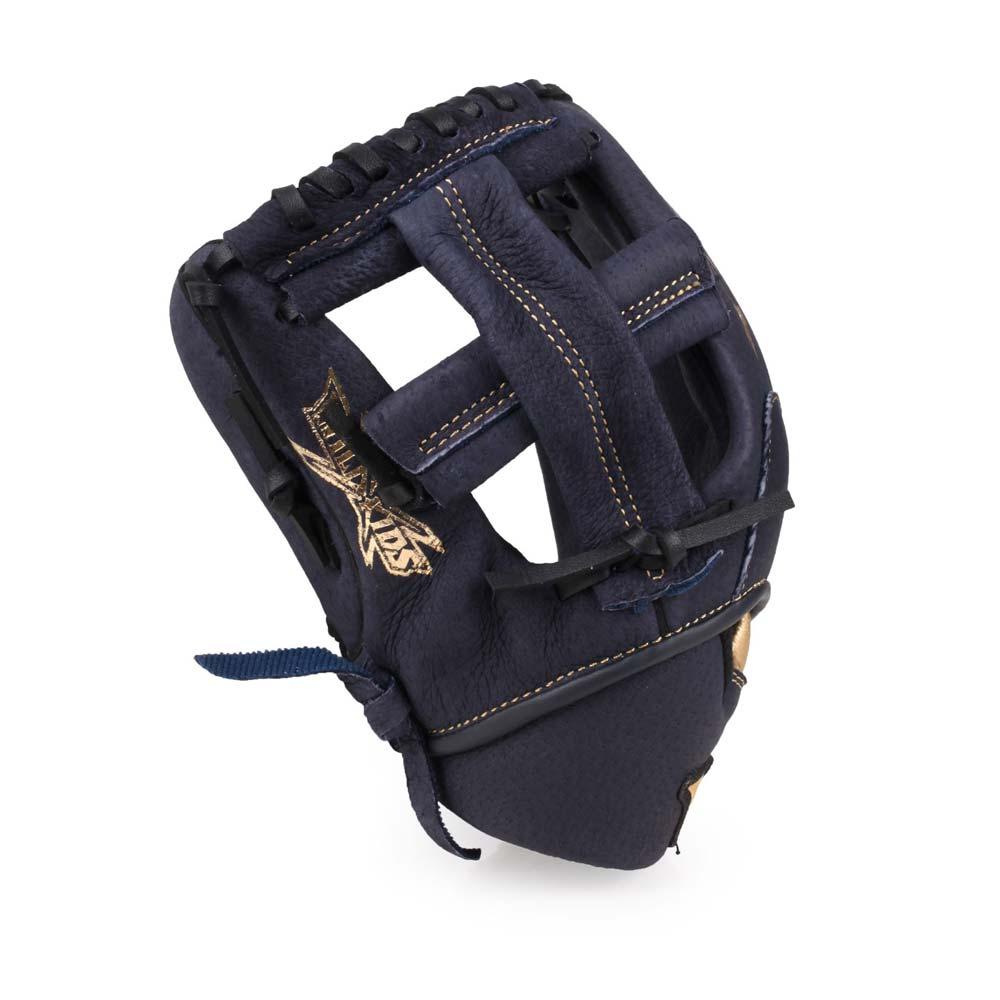 MIZUNO 少年用手套-通用 左投 棒球 壘球 美津濃 丈青金@1AJGY21700-29H@