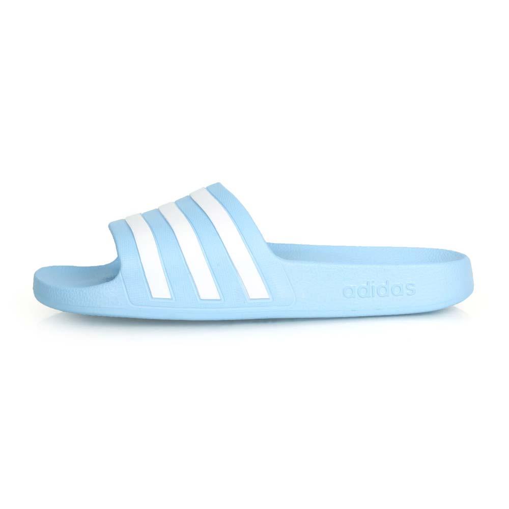 ADIDAS 女運動拖鞋-游泳 海邊 海灘 戲水 拖鞋 愛迪達 水藍白@EE7346@