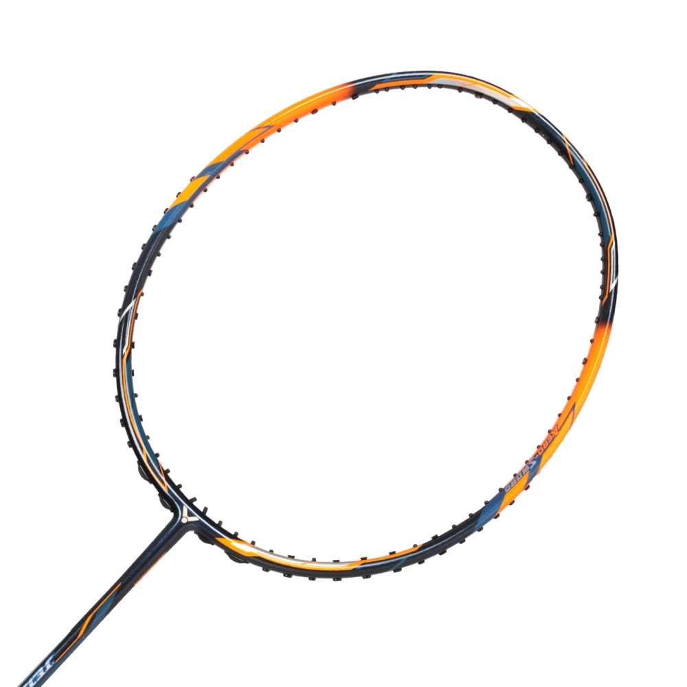VICTOR 極速球拍-5U-羽毛球拍 勝利 羽球 螢光橘深藍@JS-08-5U-B@