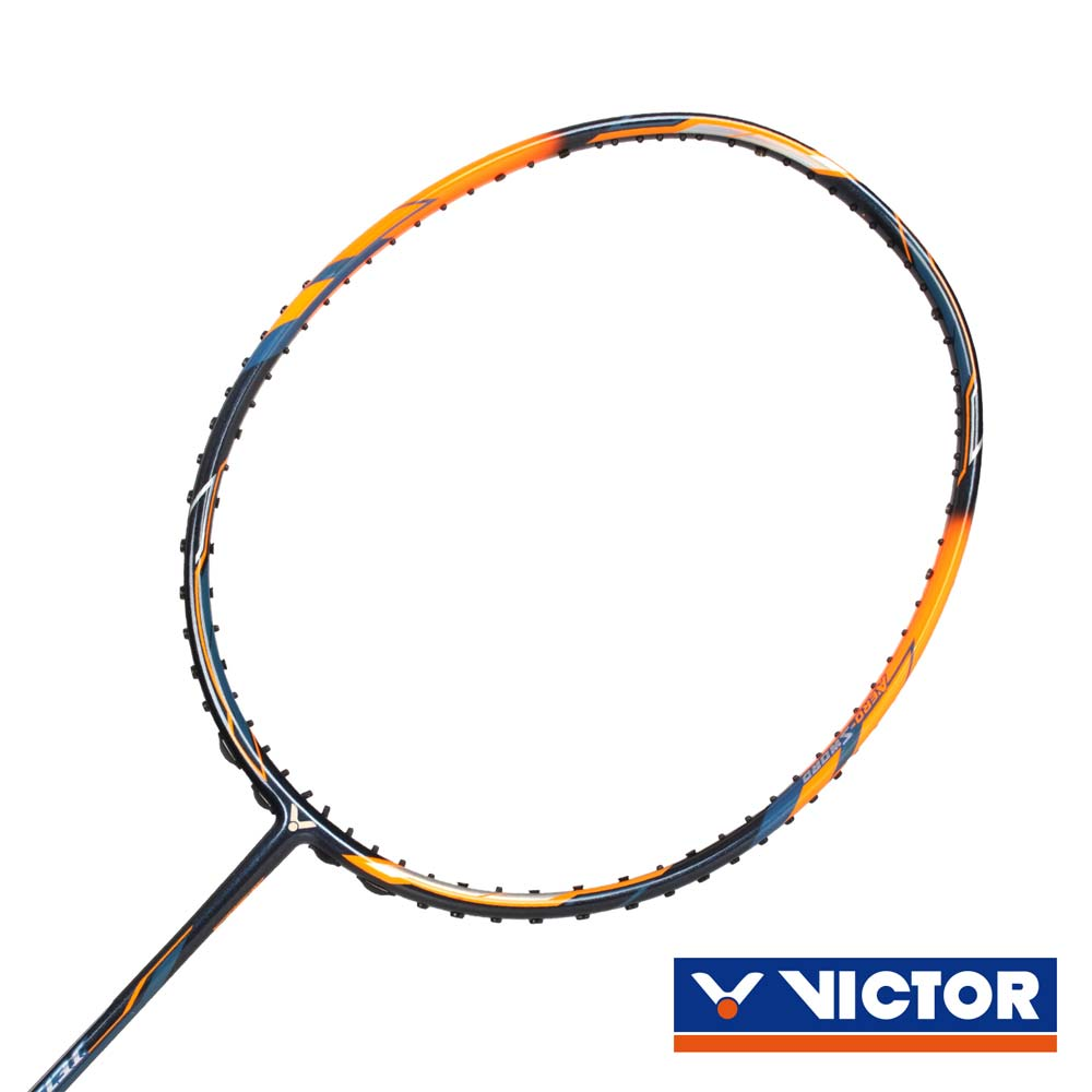 VICTOR 極速球拍-4U-羽毛球拍 勝利 羽球 螢光橘深藍@JS-08-4U-B@