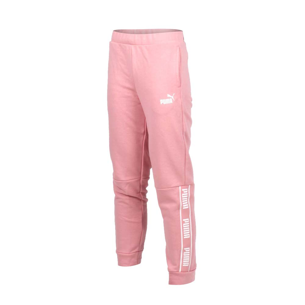 PUMA AMPLIFIED 女基本系列長褲-慢跑 針織 荳蔻粉白@58108114@