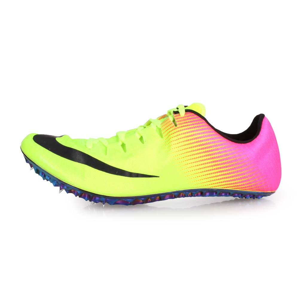 NIKE ZOOM SUPERFLY ELITE-男女限量田徑釘鞋-短距離 螢光黃黑粉@835996999@