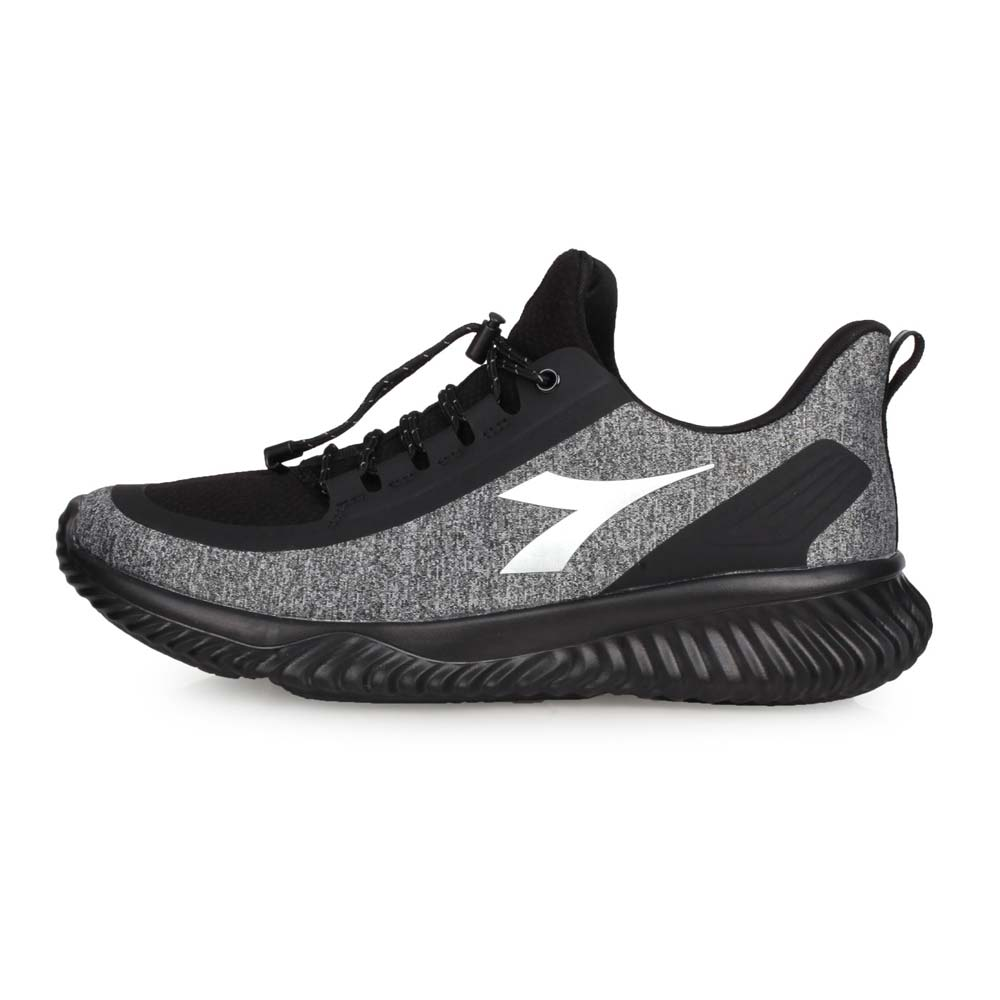 DIADORA 男生活抗水運動鞋-寬楦 慢跑 防潑水 灰黑銀@DA9AMC7768@