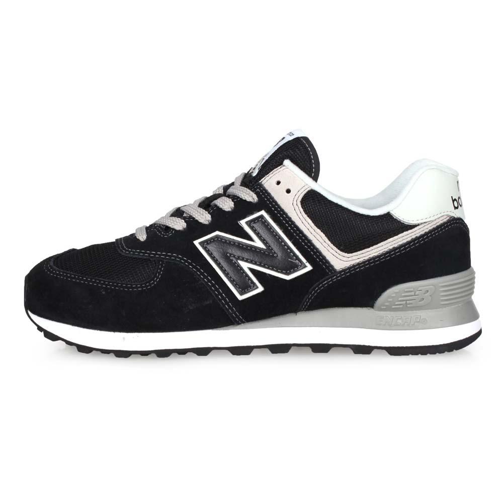 NEWBALANCE 男復古慢跑鞋-NB N字鞋 574系列 麂皮 黑灰@ML574EGK@