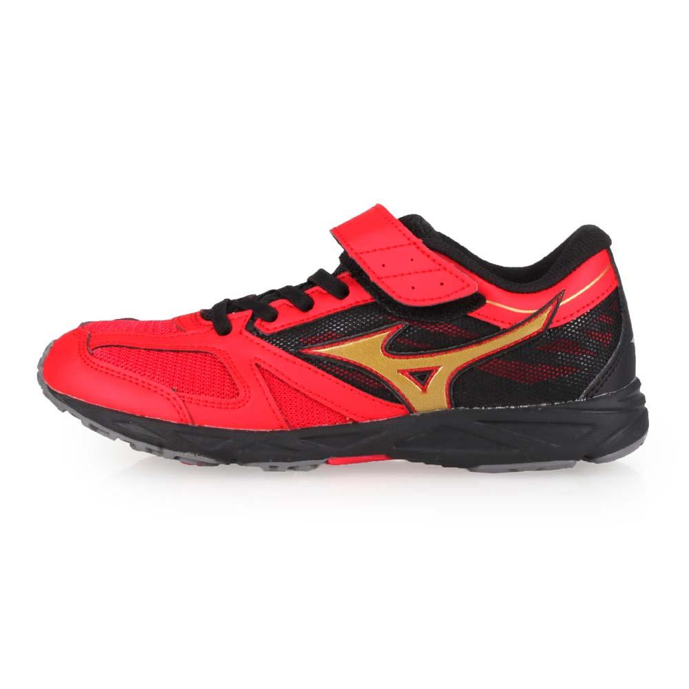 MIZUNO SPEED STUDS BELT 男女童運動鞋-慢跑 路跑 美津濃 紅黑金@K1GC194062@