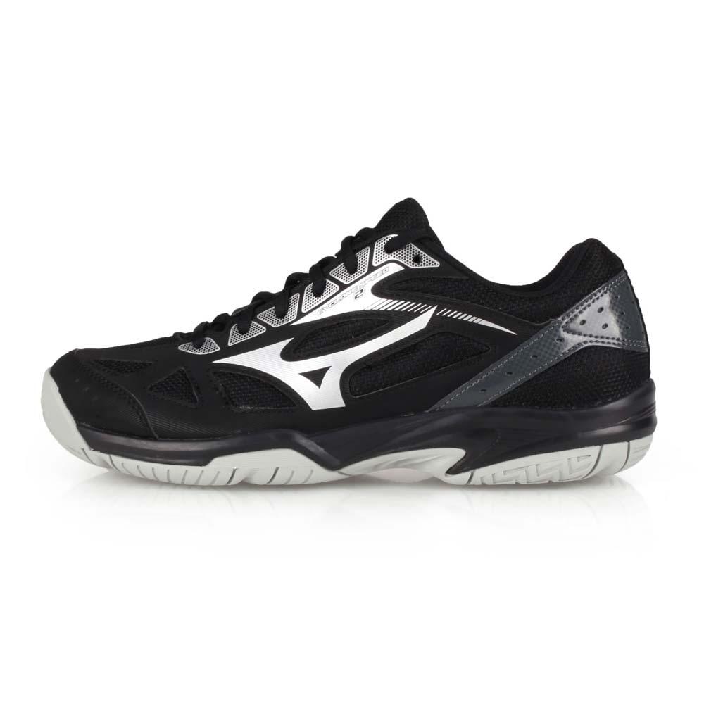 MIZUNO CYCLONE SPEED 2 男女排球鞋-訓練 美津濃 黑黑銀@V1GA198097@