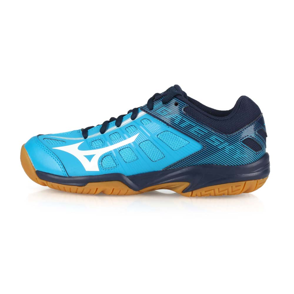MIZUNO GATE SKY 2 男女羽球鞋-羽毛球 美津濃 水藍深藍白@71GA194001@
