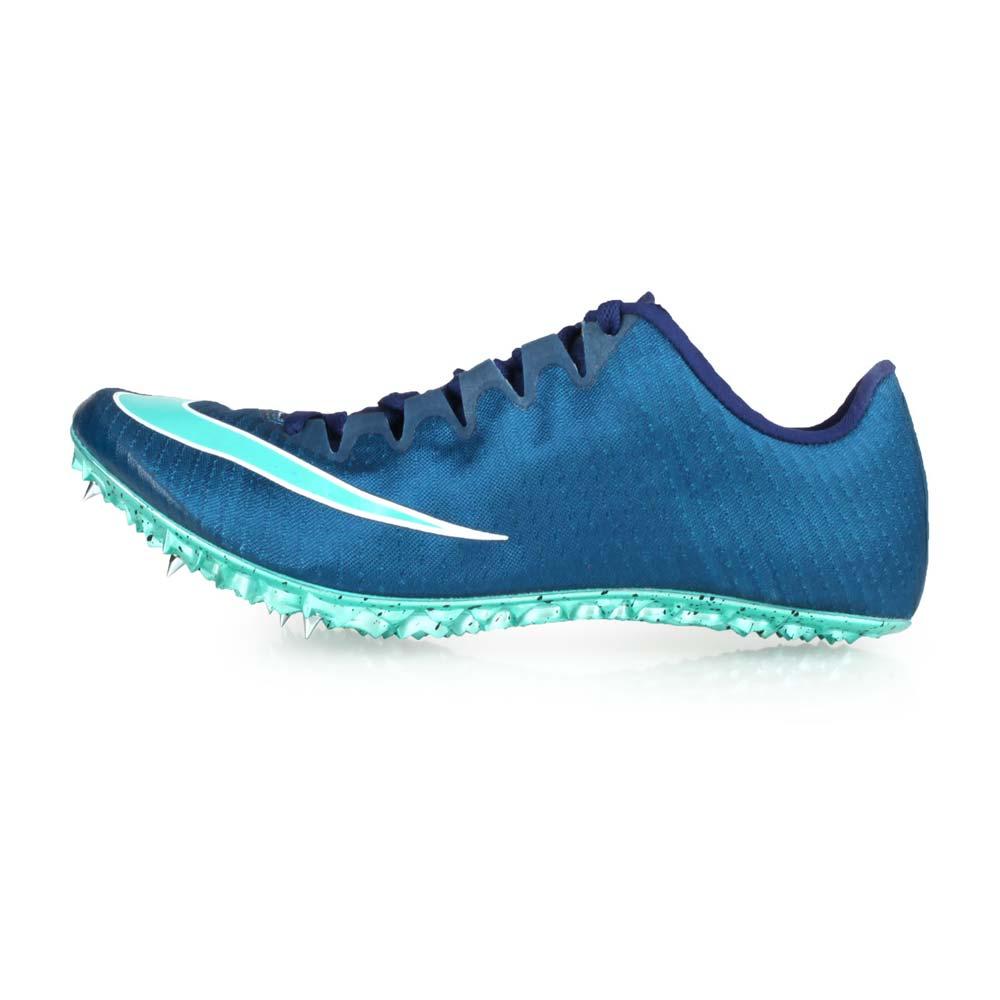 NIKE ZOOM SUPERFLY ELITE 男女田徑釘鞋-短距離  競賽 墨藍湖水綠@835996400@