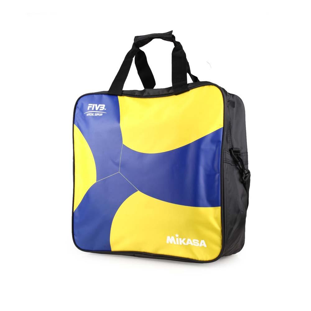 MIKASA 排球袋-4顆裝 手拿袋 手提袋 肩背袋 收納袋 藍黃黑@MKAC-BG240W-YB@