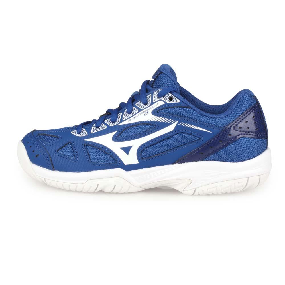 MIZUNO CYCLONE SPEED 2 JR. 男女兒童排球鞋-美津濃 藍白@V1GD191028@