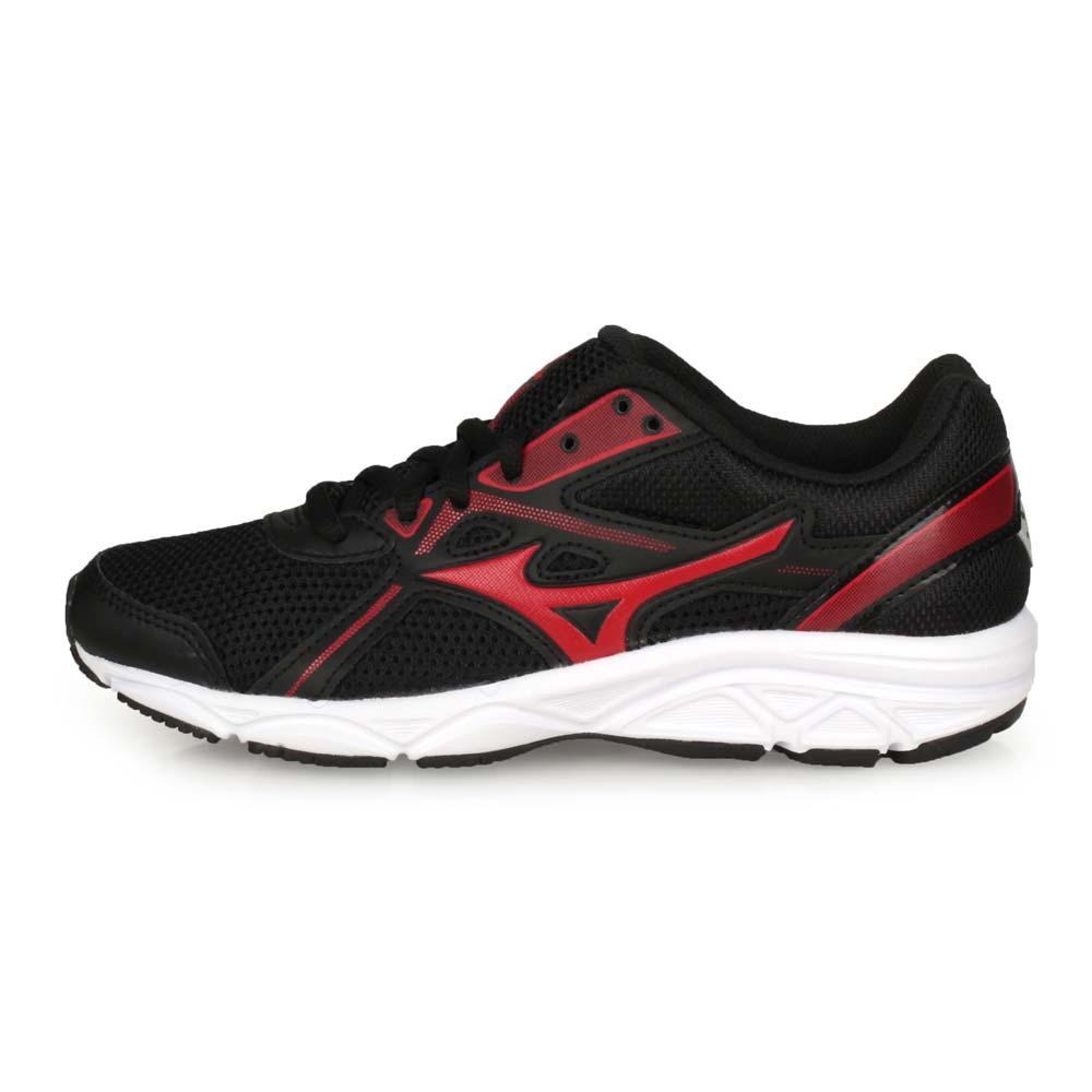 MIZUNO MAXIMIZER 22 JR 男大童慢跑鞋-美津濃 黑紅@K1GC202062@