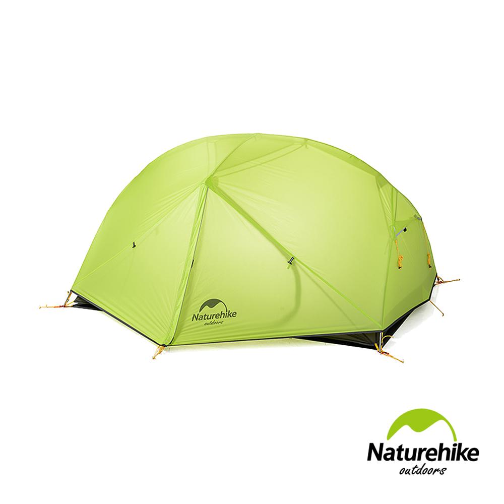 Naturehike蒙加2双层防雨20D矽胶双人帐篷 赠地席 翠绿