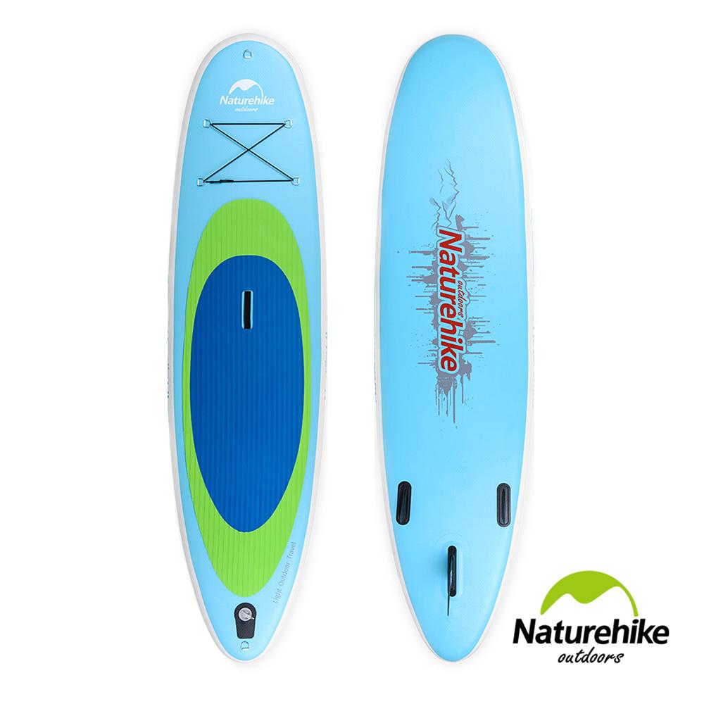 Naturehike高强度充气式水上冲浪板 滑水板 附划桨 蓝色小号