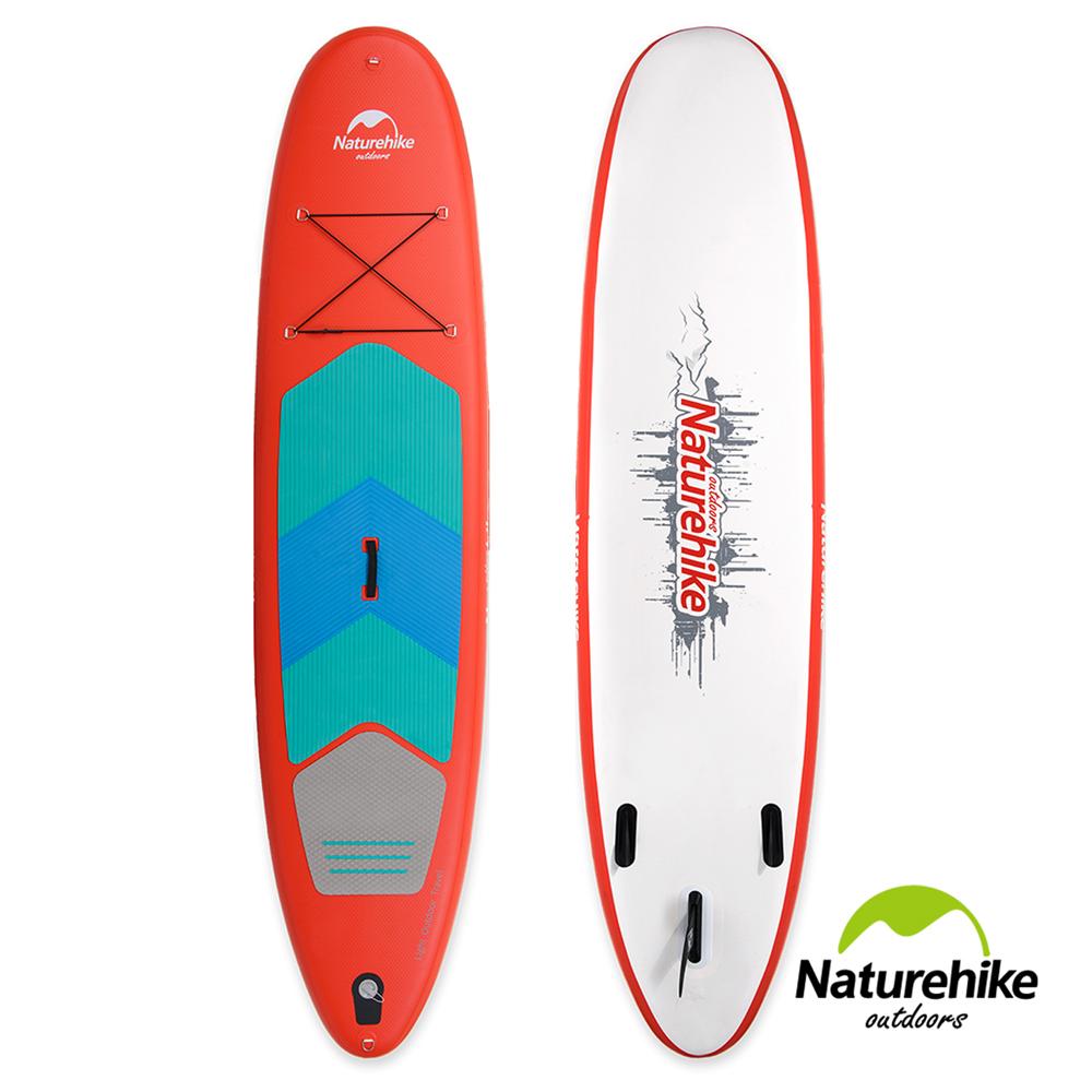 Naturehike高强度充气式水上冲浪板 滑水板 附划桨 红色大号