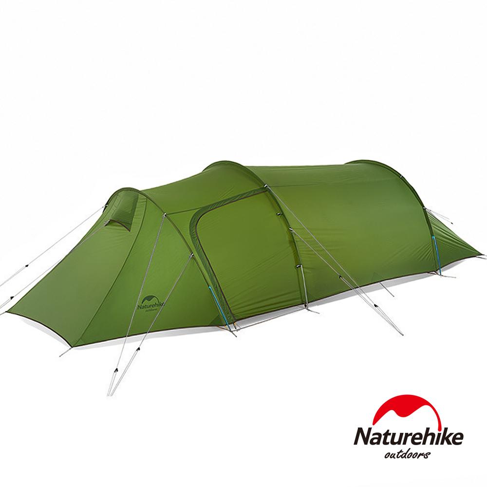 Naturehike 巴洛斯一室一厅轻量20D矽胶双层帐篷2-3人 赠地席 绿色