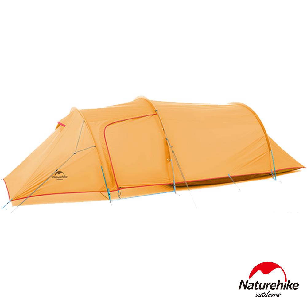 Naturehike 巴洛斯一室一厅轻量210T格子布双层帐篷2-3人 赠地席 橙色
