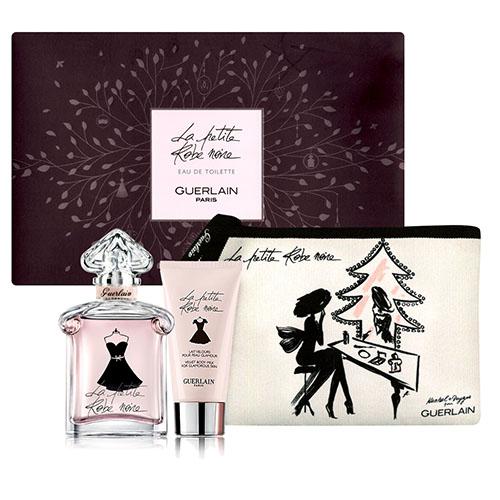 Guerlain 嬌蘭小黑裙淡香水禮盒組100ML (身體乳75ML+化妝包)