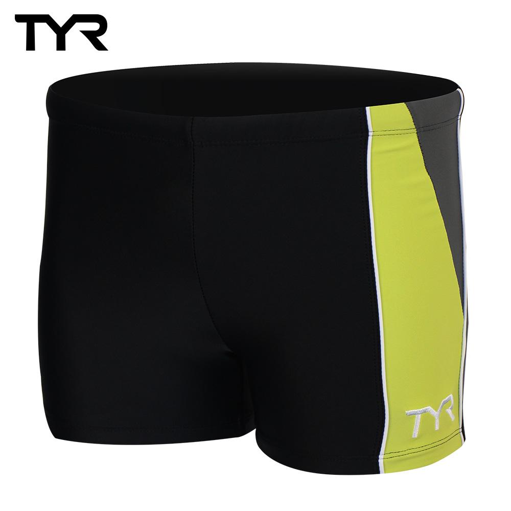 美国TYR男用四角款泳裤Cragen Boxer Lime 台湾总代理