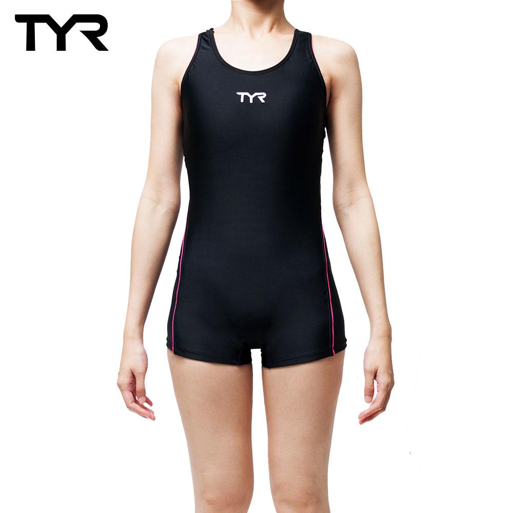 美国TYR Caltha Boyleg 修身款连身四角泳装