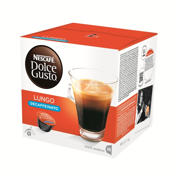 雀巢 低咖啡因美式濃黑咖啡膠囊  Lungo Decaffeinato   16顆 盒