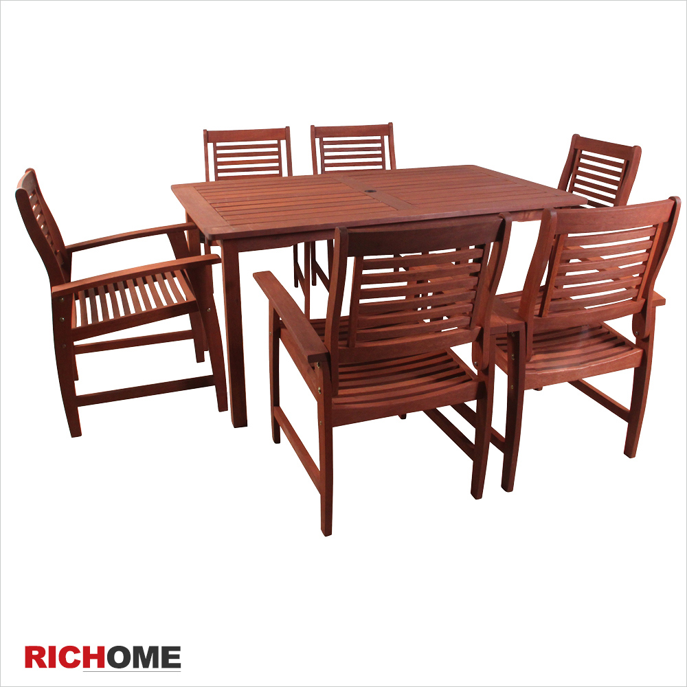 (原价11900)【RICHOME】田园绿地实木休闲桌椅组