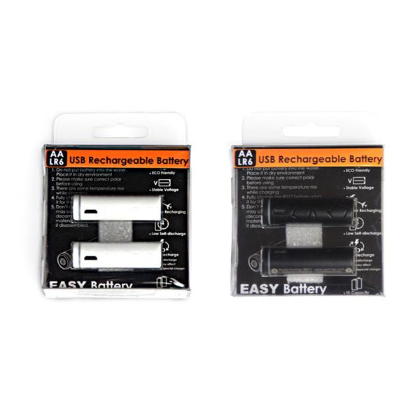 【CARD】新加坡最新科技 B011 AA(3號) USB 環保電池 2入