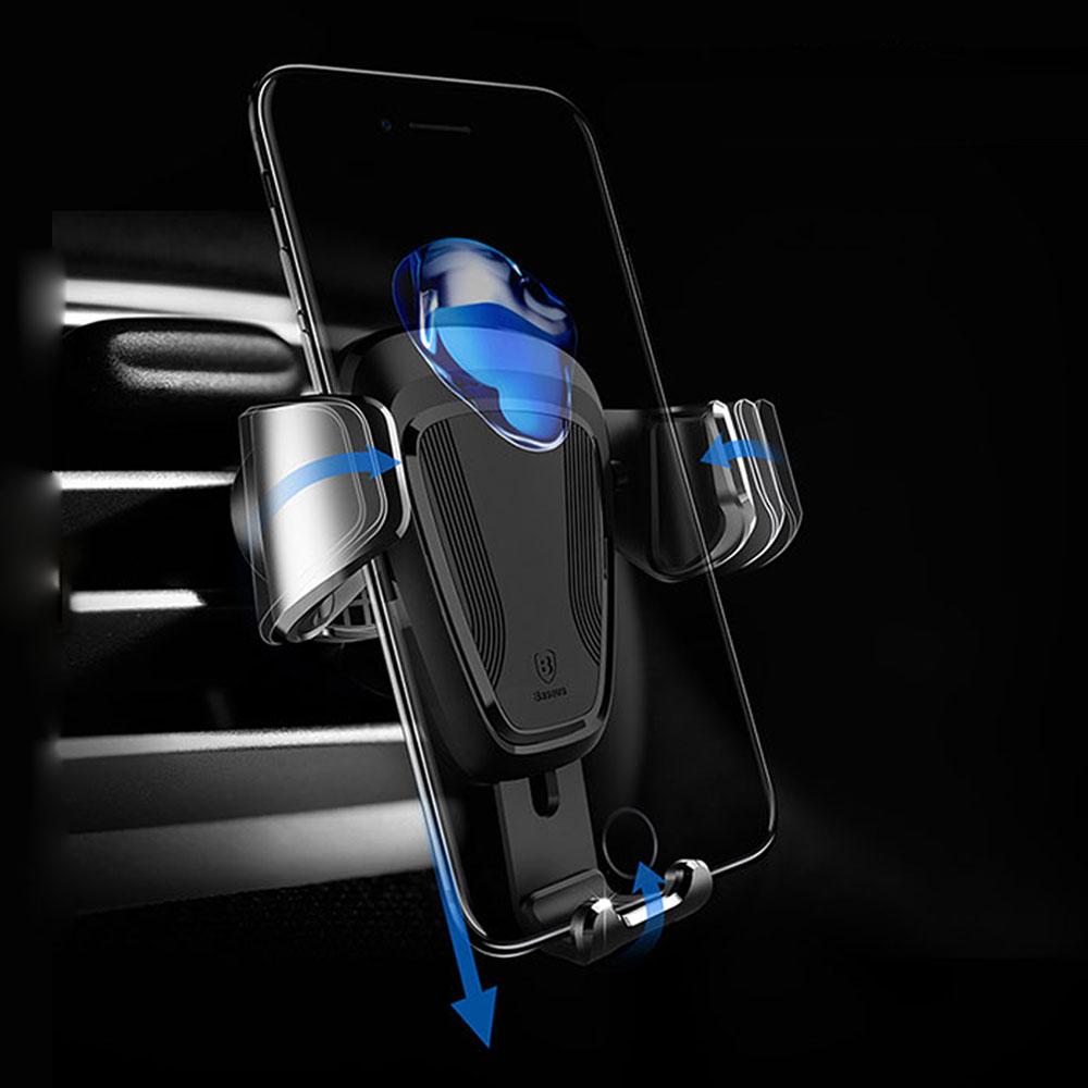 Baseus倍思 重力感應車用支架 冷氣出風口手機支架