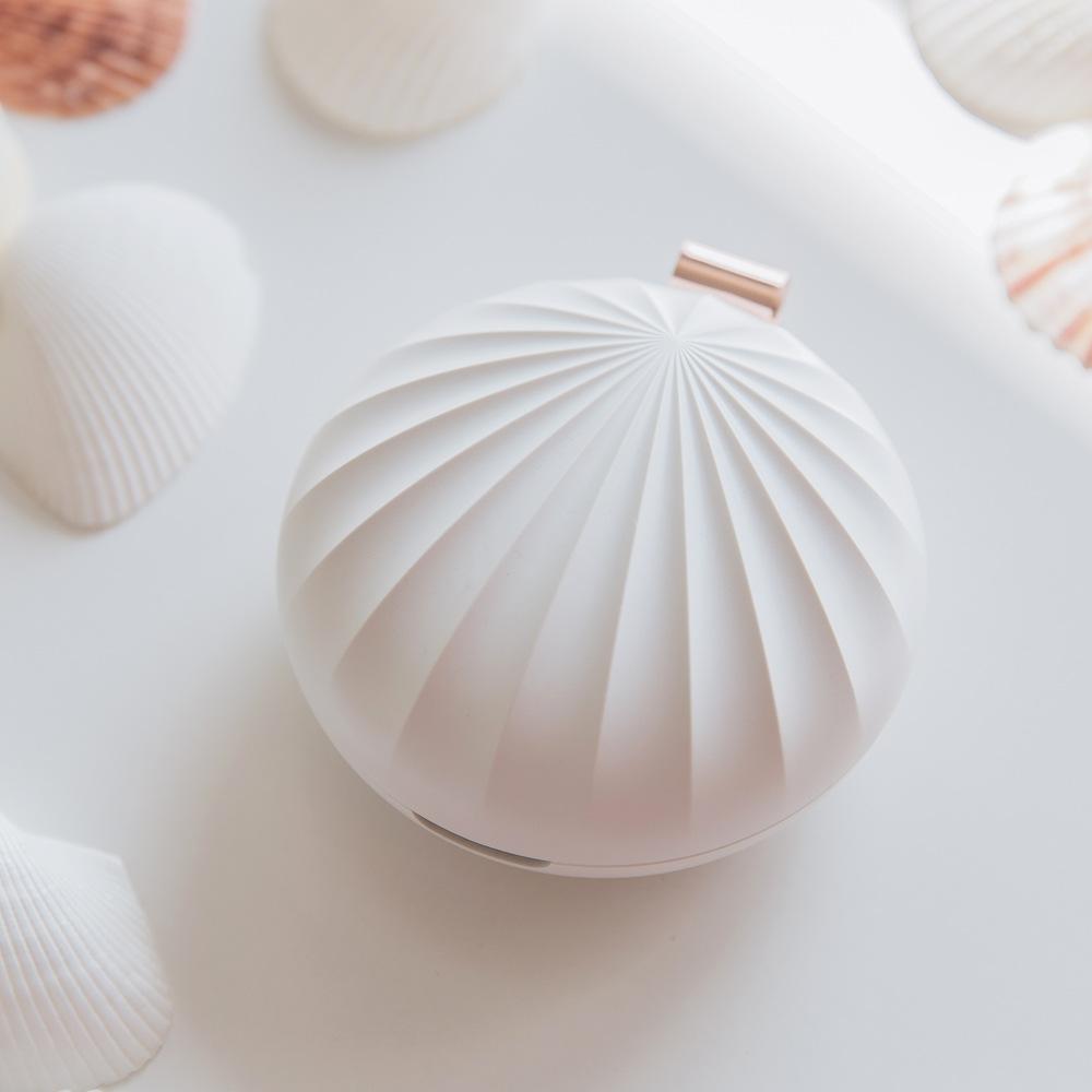 馥貝 便攜式精油香薰機 貝殼擴香器 USB充電迷你香氛機 隨身擴香器 可當驅蚊器